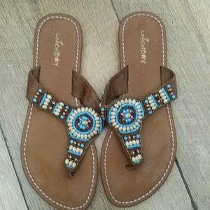 Union Bay southwest style thong sandals